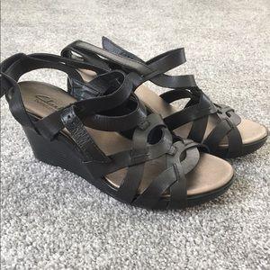 Clark's Star Mello Wedge Sandal Size 6.5
